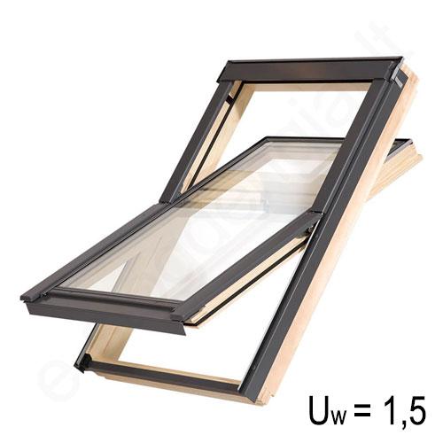 Balio stoglangis FOF 78x92 cm (M4) Medinis, ekonomiškas