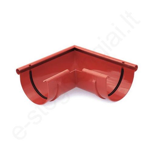 Bryza latako išorinis kampas 90° 125/90 Raudonas (Ral 3011) plastikinis, vnt