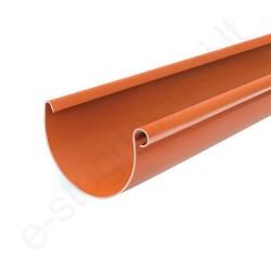 Bryza latakas 125/90 3m Molio (Ral 8004) plastikinis, vnt