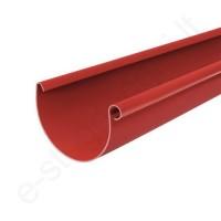 Bryza latakas 125/90 3m Raudonas (Ral 3011) plastikinis, vnt