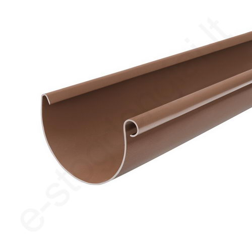 Bryza latakas 125/90 3m Rudas (Ral 8017) plastikinis, vnt