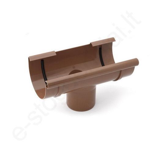 Bryza nuolaja-įlaja 125/90 Ruda (Ral 8017) plastikinė, vnt