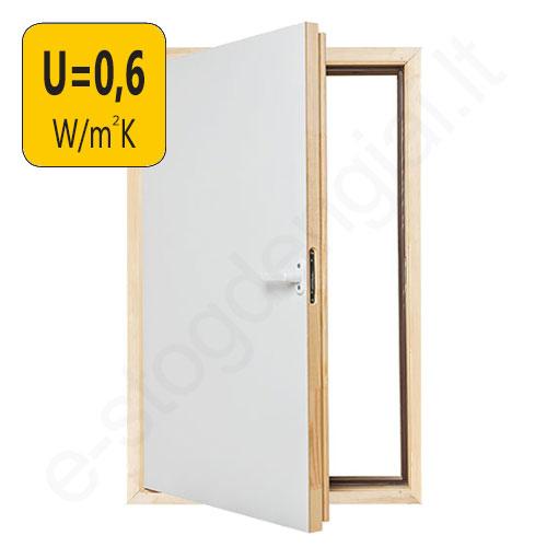 Fakro karnizinės durys DWT 60x80 cm YPATINGAI ŠILTOS, U=0,6 W/m²K