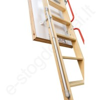 Fakro palėpės laiptų kopėčių sulankstymą lengvinantis mechanizmas LXM