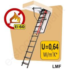 PRIEŠGAISRINIAI laiptai į palėpę Fakro LMF 60x120 h=2,8m metaliniai, EI=60 min