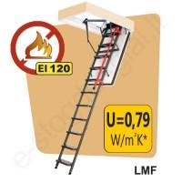 PRIEŠGAISRINIAI palėpės laiptai Fakro LMF 60x120 h=2,8m metaliniai, EI=120 min