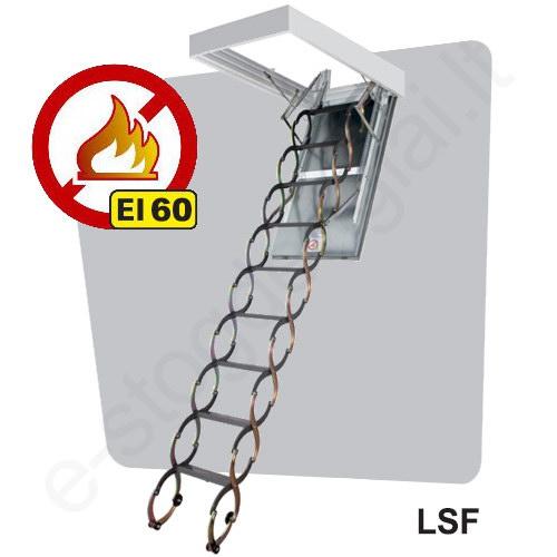 Laiptai Fakro LSF UGNIAI ATSPARŪS 50x70 h=2,8m metaliniai, EI=60 min