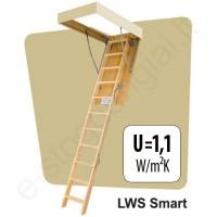 Palėpės laiptai Fakro LWS Smart 55x111 h=2,8m mediniai EKONOMIŠKI