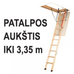 Aukštis iki 3,35 m