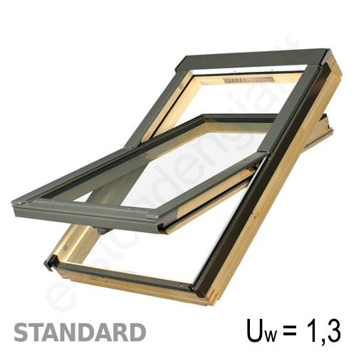 Fakro stogo langas FTS-V U2 55x78 EKONOMIŠKAS medinis