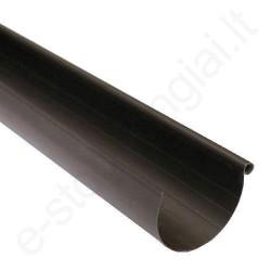 Faraplan latakas 125/80 3m T.Rudas (Ral 8019) plastikinis, vnt