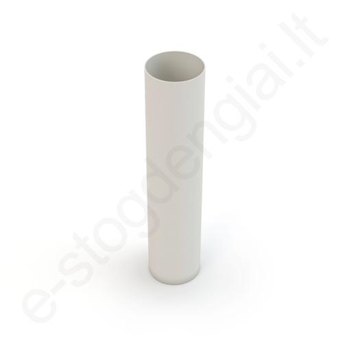 Gamrat lietvamzdis 75/63 1m Baltas (Ral 9010) plastikinis, vnt
