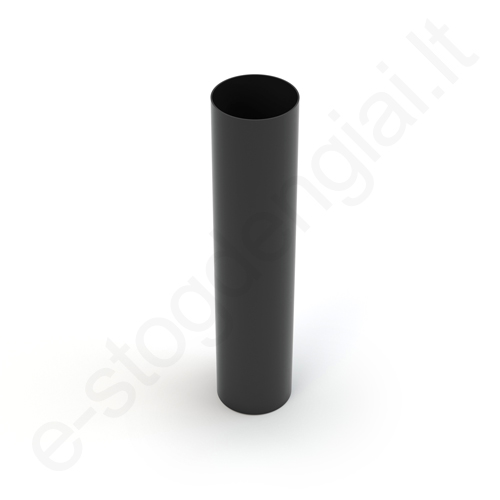 Gamrat lietvamzdis 75/63 3m Juodas (Ral 9017) plastikinis, vnt