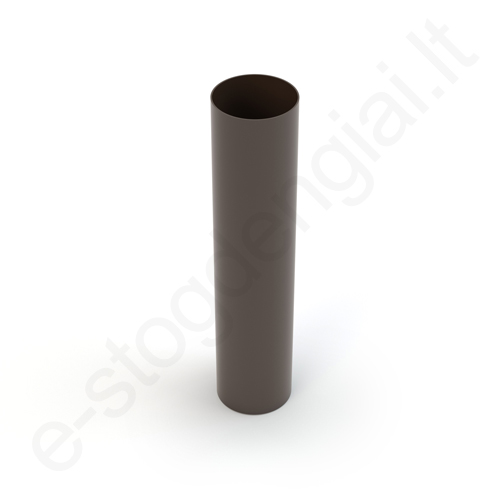 Gamrat lietvamzdis 100/63 1m T.Rudas (Ral 8019) plastikinis, vnt