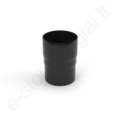 Gamrat lietvamzdžio jungtis 75/63 Juoda (Ral 9017) plastikinė, vnt