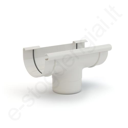 Gamrat nuolaja-įlaja 75/63 Balta (Ral 9010) plastikinė, vnt