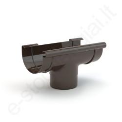 Gamrat nuolaja-įlaja 75/63 T.Ruda (Ral 8019) plastikinė, vnt