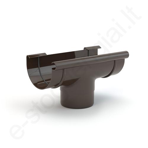 Gamrat nuolaja-įlaja 100/63 T.Ruda (Ral 8019) plastikinė, vnt