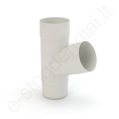 Gamrat lietvamzdžio trišakis 150/110 Baltas (Ral 9010) plastikinis, vnt