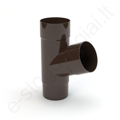 Gamrat lietvamzdžio trišakis 125/90 T.Rudas (Ral 8019) plastikinis, vnt