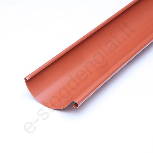Latakas 125/90 3m Molio (Prelaq 742) Flamingo plieninis, vnt