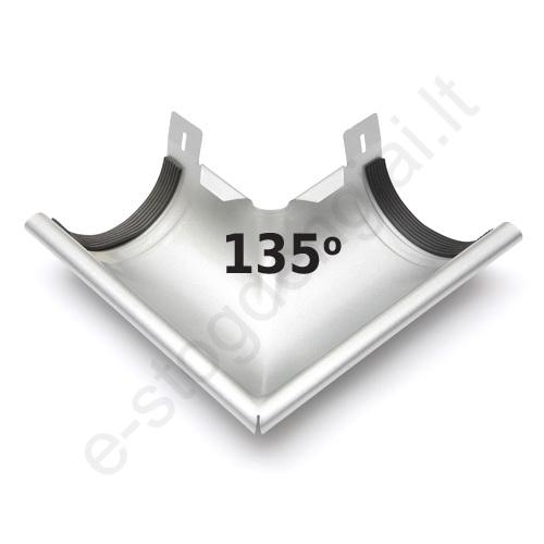 Latako išorinis kampas 135° 150/100 Sidabrinis (Prelaq 045) Flamingo, vnt