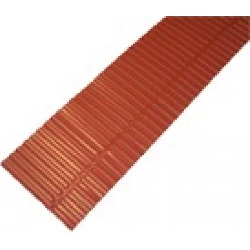 Laštakis aliumininis 1,6m molio raudonumo/rudas Monier, vnt