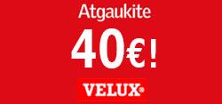 VELUX rudens stoglangių akcija! Atgaukite iki 40 eurų! (Akcija baigėsi)