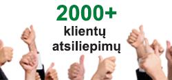 Jau daugiau kaip 2000 klientų atsiliepimų!