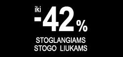 Iki -42% JUODOS NUOLAIDOS stoglangiams, stogo liukams