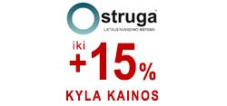 Iki +15% BRANGSTA STRUGA lietaus sistema