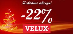Kalėdinė akcija! -22% nuolaida VELUX stogo langams! (Akcija baigėsi)