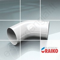 Lietvamzdžio apatinė alkūnė Raiko Platinum 150/100 Magnelis  plieninė, vnt