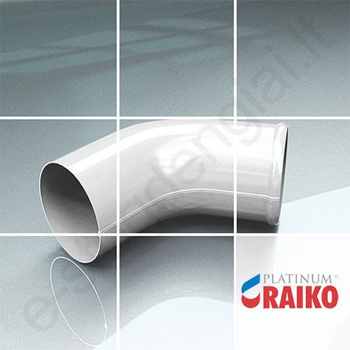 Lietvamzdžio apatinė alkūnė Raiko Platinum 125/90 Magnelis  plieninė, vnt