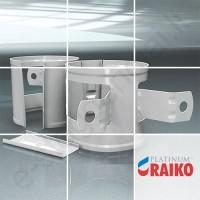 Lietvamzdžio laikiklis prie medžio Raiko Platinum 150/100 Magnelis plieninis, vnt
