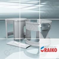 Lietvamzdžio laikiklis Raiko Platinum 150/100 Magnelis plieninis, vnt