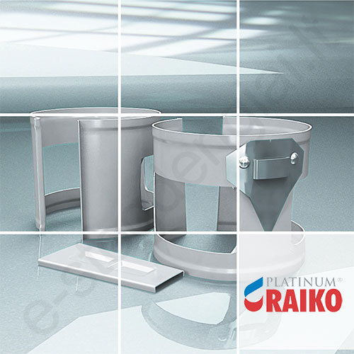 Lietvamzdžio laikiklis Raiko Platinum 125/90 Magnelis plieninis, vnt