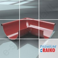 Latako išorinis kampas 90° Raiko Premium 125/90 Pilkas grafito (Prelaq 087), vnt