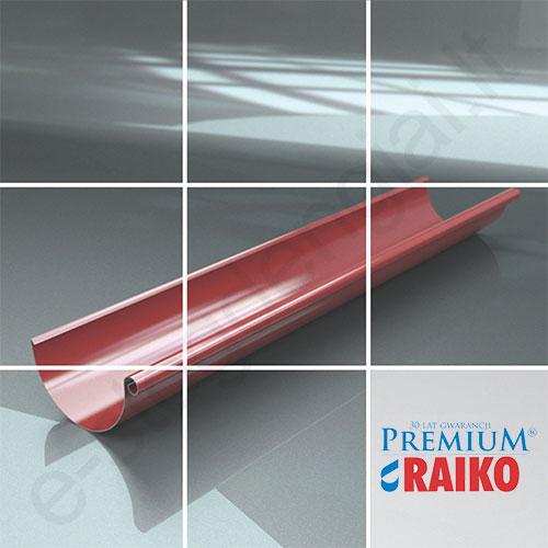 Latakas Raiko Premium 125/90 3m T.Rudas (Prelaq 444) plieninis, vnt