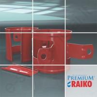 Lietvamzdžio laikiklis prie medžio Raiko Premium 125/90 T.Rudas (Prelaq 444), vnt