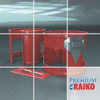 Lietvamzdžio laikiklis Raiko Premium 125/90 Sidabrinis (Prelaq 044) plieninis, vnt