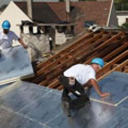 Šlaitinio stogo šiltinimas