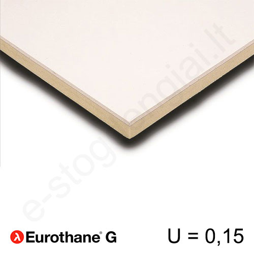 Recticel Eurothane G poliuretano plokštė stogui 1200x2600x150mm, 1vnt/3m²