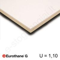 Recticel Eurothane G poliuretano plokštė su gipso kartono apdaila 1200x2600x20mm, 1vnt/3,12m²