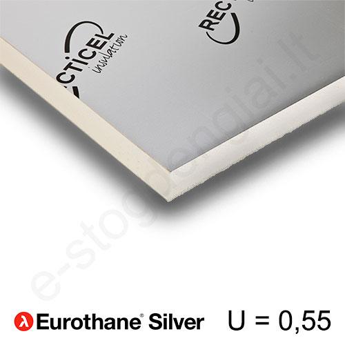 Recticel Eurothane Silver poliuretano plokštė grindims 1200x2500x40mm, 1vnt/3m²