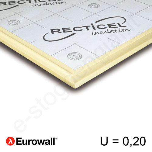 Recticel Eurowall poliuretano plokštė su išdroža sienoms 1200x600x110mm, 1vnt/0,72m²
