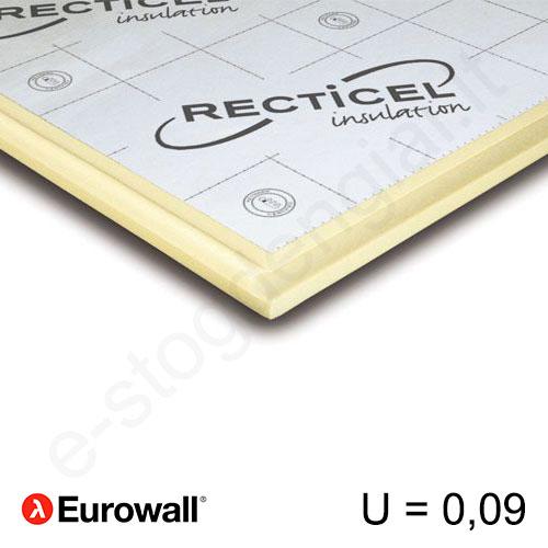 Recticel Eurowall poliuretano plokštė su išdroža stogui 1200x600x240mm, 1vnt/0,72m²