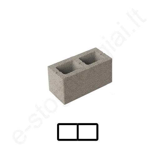 Schiedel ventiliacinis blokelis 2 kanalų 46x20cm h=8,66m, kompl