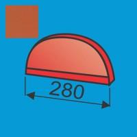 Apvalaus kraigo dangtelis Raudona Molio poliesteris 0,5mm, vnt