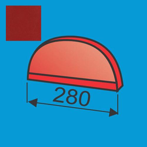 Apvalaus kraigo dangtelis Raudona Purpurinė poliesteris DP 0,5mm, vnt